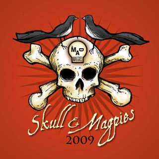 skull and magpies 2009