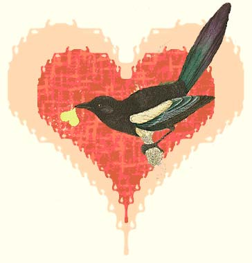 magpie and heart
