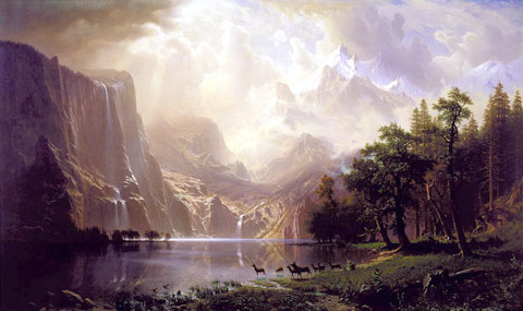 AMONG THE SIERRA NEVADA, CALIFORNIA Albert Bierstadt