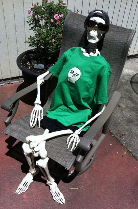 death's brother on patio