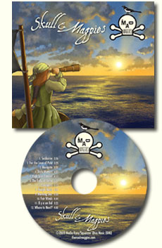 skull and magpies cd cover and disc