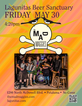 poster of the mad maggies at lagunitas