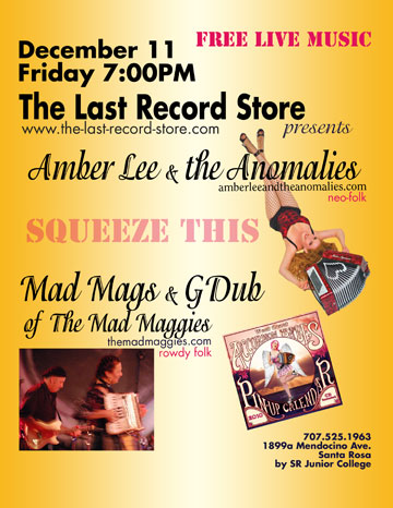 last record store gig  poster