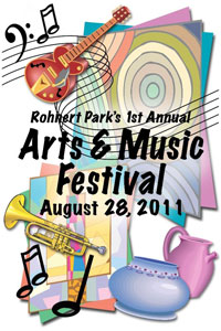 rohnert park art and music fest poster