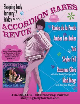accordion babe revue poster