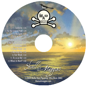 skull and magpies disc
